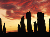 Megaliths at Sunset  Callanish  Scotland