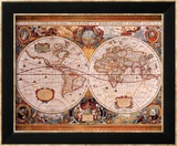 Antique Map  Geographica  c1630