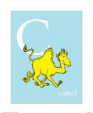 C is for Camel (blue) Reproduction d'art par Theodor (Dr. Seuss) Geisel