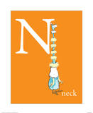 N is for Neck (orange)