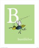 B is for Bumblebee (green) Reproduction d'art par Theodor (Dr. Seuss) Geisel