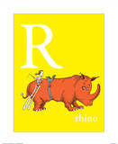 R is for Rhino (yellow)