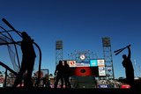 San Francisco  CA - October 14: San Francisco Giants v St Louis Cardinals - Warm Up