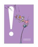 Exclamation Point (purple) Reproduction d'art par Theodor (Dr. Seuss) Geisel