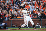 San Francisco  CA - October 14: San Francisco Giants v St Louis Cardinals - Buster Posey