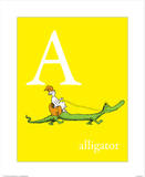 A is for Alligator (yellow)