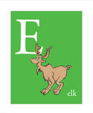 E is for Elk (green)