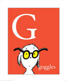 G is for Goggles (red) Reproduction d'art par Theodor (Dr. Seuss) Geisel