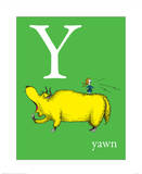 Y is for Yawn (green)