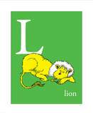 L is for Lion (green)