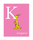 K is for Kangaroo (pink)