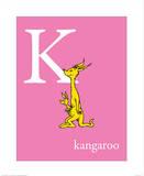 K is for Kangaroo (pink) Reproduction d'art par Theodor (Dr. Seuss) Geisel