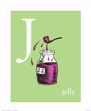 J is for Jelly (green) Reproduction d'art par Theodor (Dr. Seuss) Geisel