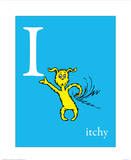 I is for Itchy (blue)