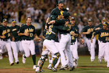 Oakland  CA - October 1: Oakland Athletics v Texas Ranger - Celebration