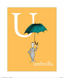 U is for Umbrella (orange)