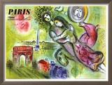Plafond de l'Opéra de Paris, détail, 1965 Reproduction giclée encadrée par Marc Chagall