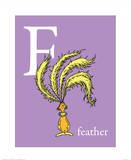 F is for Feather (purple) Reproduction d'art par Theodor (Dr. Seuss) Geisel