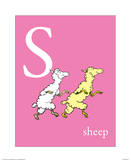 S is for Sheep (pink)