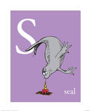 S is for Seal (purple) Reproduction d'art par Theodor (Dr. Seuss) Geisel