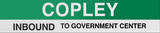 Copley Boston/Green Line Sign
