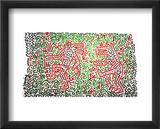 Sans titre Reproduction encadrée par Keith Haring