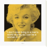 Marilyn: Man's World Tableau sur toile
