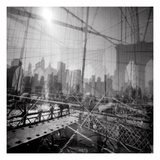 Brooklyn Bridge Triple Papier Photo par Evan Morris Cohen