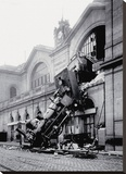 Train Accident at the Gare Montparnasse  Paris  1895