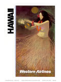 Hawaii Western Airlines Hula Dancer c1960s