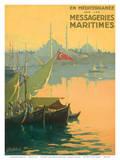 Istambul Messageries Maritimes c.1925 Reproduction d'art par Gilbert Galland