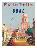 India by BOAC c1955