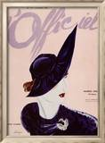 L'Officiel, février 1936 - Marthe Valmont en couverture Reproduction encadrée par Lbenigni