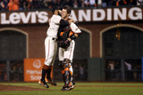 San Francisco  CA - Oct 22: Giants v Cardinals - Sergio Romo and Buster Posey
