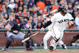 San Francisco  CA - Oct 22: Giants v Cardinals - Pablo Sandoval and Angel Pagan