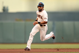San Francisco  CA - Oct 22: Giants v Cardinals - Angel Pagan and Marco Scutaro