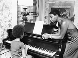 Nina Simone and daughter - 1971