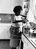 Sarah Vaughan at home - 1961