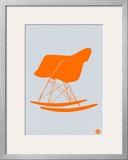 Orange Eames Rocking Chair