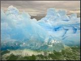 Waves Lapping Against Iceberg at the Antarctic Peninsula