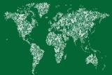 Butterflies Map of the World Map