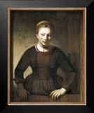 Young Woman at an Open Half-Door