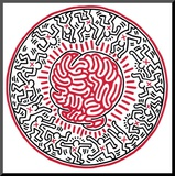 Sans titre, 1985 Reproduction montée par Keith Haring
