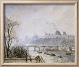 The Louvre and the Seine from the Pont Neuf  Morning Mist  1902
