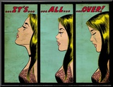 Marvel Comics Retro: Love Comic Panel  Crying  It&#39;s All Over! (aged)
