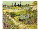 Flowering Garden with Path, Arles, 1888 Giclée par Vincent Van Gogh
