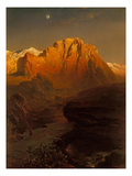Evening Sun Creating a Glow in the Sierra Nevada  1863