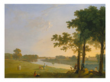 View across the Thames River Near Kew Gardens onto Syon House  about 1760/1770