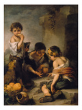 Urchins Playing Dice  about 1670/1675