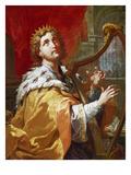 Koenig David Beim Harfenspiel